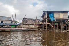 Belen neighborhood of Iquitos. View of partially floating shantytown in Belen neigbohood of Iquitos, Peru royalty free stock images