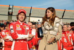 Belen Rodriguez and the ferrari team Royalty Free Stock Photography
