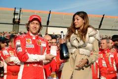 Belen Rodriguez und das Ferrari-Team Lizenzfreie Stockfotografie