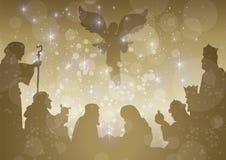 Belen stellata completa Immagini Stock Libere da Diritti