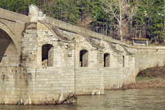 Old Belenski bridge - Landmark attraction in Bulgaria Stock Photos