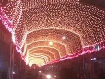 Beleuchten auf Straße Stockbilder