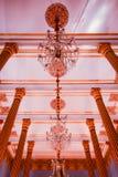 Beleuchten in der Kirche Stockfoto