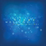 Beleuchten der Unschärfe für Hintergrund in der glücklichen Zeit auf blauem Ton Lizenzfreies Stockfoto