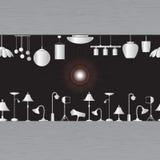 Beleuchten im Ausstellungsraum Stockfoto