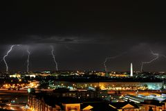 Beleuchten im Washington DC Lizenzfreie Stockfotos