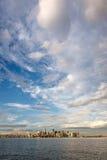 Beleuchten Sie nach dem Sturm über im Stadtzentrum gelegenem Manhattan, New York City Lizenzfreies Stockbild