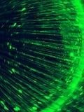 Beleuchten Sie Spiel: Grünes und gelbes Cyberrundschreiben Stockfotos