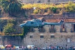 Beleuchten Sie szenischen Hubschrauber Stockbild