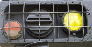 Beleuchtet Militärtraktor Lizenzfreies Stockbild