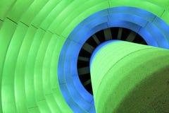 Beleuchtete Architektur Stockfoto