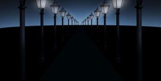 Beleuchtete Bahn stockfotos