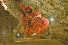 Beleuchtete Höhlen der Wiege der Menschheit, eine Welterbestätte in Gauteng Province, Südafrika, der Standort von 2 8 Million Jäh lizenzfreie stockfotos