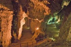 Beleuchtete Höhlen der Wiege der Menschheit, eine Welterbestätte in Gauteng Province, Südafrika, der Standort von 2 8 Million Jäh Stockfotografie