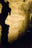 Beleuchtete Höhlen, die Kontinent von Afrika an der Wiege der Menschheit ähneln, eine Welterbestätte in Gauteng Province, Süd-Afr stockbild
