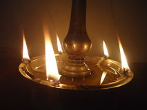 Beleuchtete Lampe lizenzfreies stockfoto