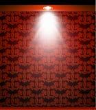 Beleuchtete rote nahtlose Wand mit Lampe Vektor Stockbild