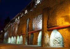 Beleuchtete Wand Lizenzfreie Stockfotos