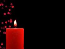 Beleuchtete Weihnachtskerze Lizenzfreie Stockbilder