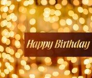 Beleuchteter Hintergrund alles Gute zum Geburtstag stockfotografie