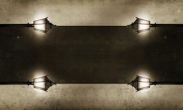 Beleuchteter Vorstand für Ihren Text stockfotos