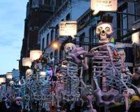 Beleuchtetes Karnevals-Floss, Aalst 2016 Lizenzfreies Stockfoto