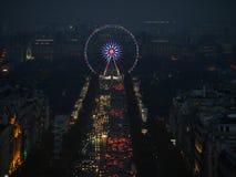 Beleuchtung auf Champs-Elyseesallee Lizenzfreies Stockfoto