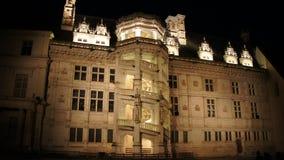 Beleuchtung bei Chateau de Blois in Loir-Tal Lizenzfreie Stockfotografie