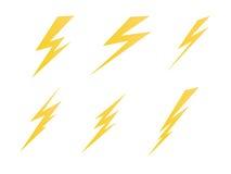 Beleuchtung, Ikonenvektor-Symbolillustration der elektrischen Ladung Stockfoto