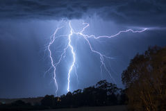 Beleuchtungs-Sturm in Australien Lizenzfreies Stockfoto