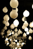Beleuchtungsball - Deckenleuchte Stockfoto