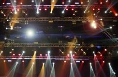 Beleuchtungsbau-Lichtgleichheit der Leistung bewegende lizenzfreie stockfotos