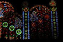 Beleuchtungslichter machen Leute glücklich in einem speziellen Moment Lizenzfreie Stockfotos