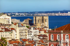 Belevedere Miradoura Outlook Cathedral Lisbon Portugal Stock Photo