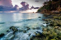 A beleza abstrata de ondas da tarde Foto de Stock