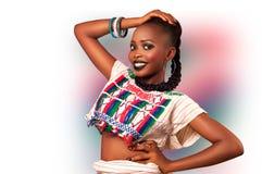 Beleza africana da forma fulani fotografia de stock