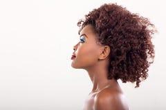 Beleza africana da mulher foto de stock