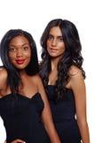 Beleza africana e indiana imagens de stock royalty free