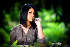 Beleza ao ar livre com uma flor Imagem de Stock Royalty Free