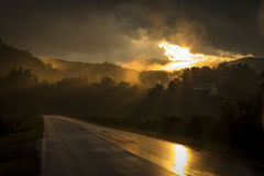 A beleza após uma tempestade do trovão da noite Foto de Stock Royalty Free