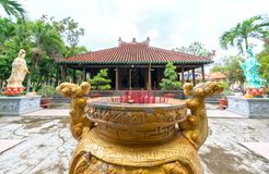 Beleza arquitetónica do templo antigo no campo Imagens de Stock
