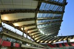 A beleza artística do telhado do ESTÁDIO de SEOUL WORLDCUP, COREIA Imagem de Stock Royalty Free