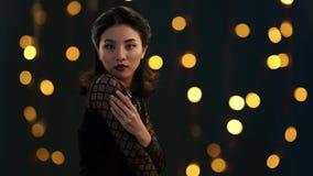 Beleza asiática video estoque