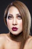 Beleza asiática com pele perfeita imagens de stock royalty free