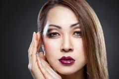 Beleza asiática com pele perfeita fotografia de stock royalty free