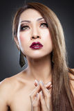 Beleza asiática com pele perfeita imagem de stock royalty free