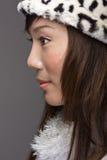 Beleza asiática da forma no perfil Fotos de Stock
