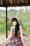 Beleza asiática ao ar livre Fotografia de Stock