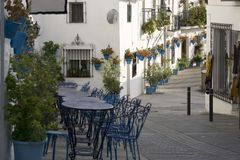 A beleza cênico da rua Mijas Costa del Sol andalusia foto de stock