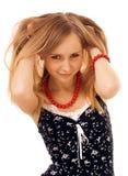 Beleza com cabelo longo Imagens de Stock Royalty Free